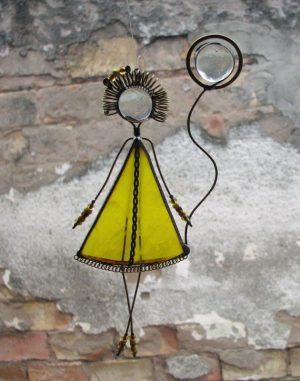 Frajlica,devojčica sa balonom – žuta