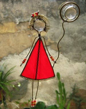 Frajlica,devojčica sa balonom – crvena
