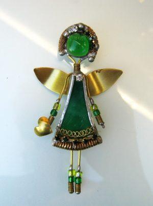 Anđeo broš – zeleni