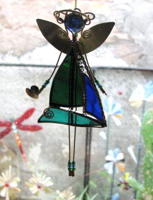 Anđeo , suncatcher – zelena-plava