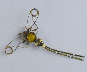 Tiski cvet manji -broš žuta