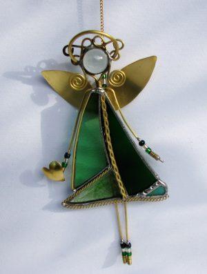 Anđeo,zelena – suncatcher