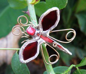 Leptir broš crvena