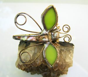 Leptir broš kivi zelena