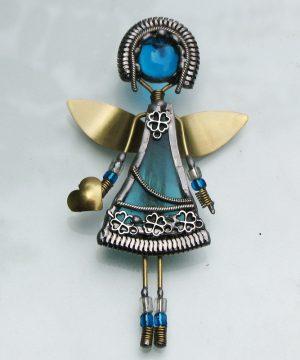 Anđeo broš – ogrlica tirkiz 2