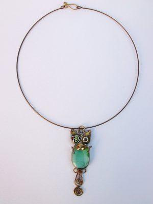 Mačka ogrlica zelena