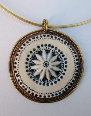 Medaljon porcelan,ogrlica 3