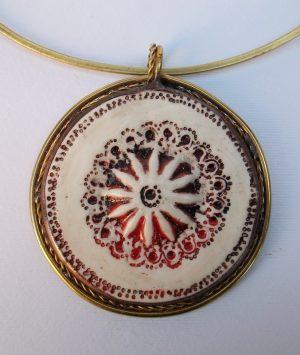 Medaljon porcelan,ogrlica 4
