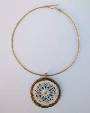 Medaljon porcelan,ogrlica 5