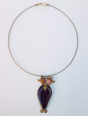 Sova ogrlica patlidžan ljubičasta