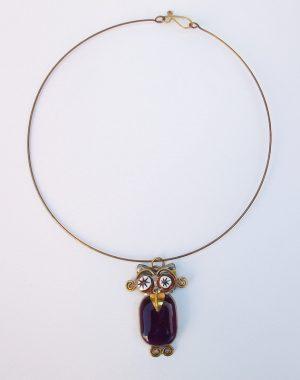 Sova ogrlica ljubičasta