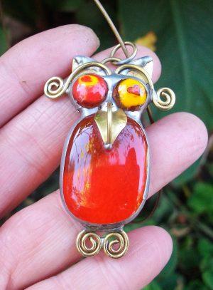 Sova ogrlica narandžasta