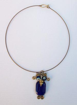Sova ogrlica teget plava