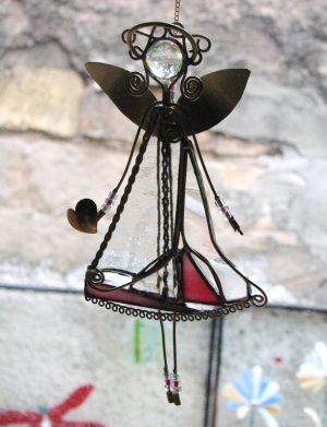 Anđeo-ukras za prozor- providna-roza