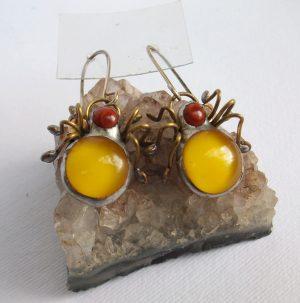 Buba pauk žuta- minđuše