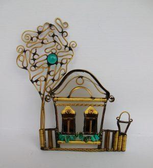 Vojvođanska kućica sa drvetom tirkiz