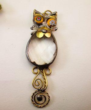 Mačka ogrlica providna