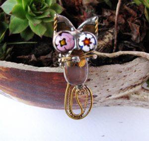 Prsten mačka-roza