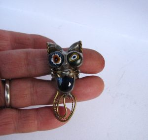 Prsten mačka-plava