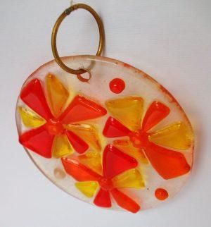 Stakleni ukras – narandžasta,žuta