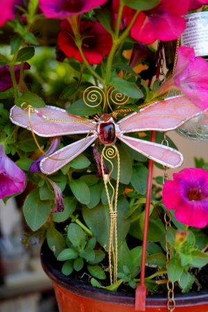 Vilin konjic -suncatcher roza 2