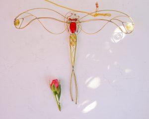Tiski cvet-suncatcher,crvena