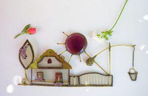 Vojvođanska kućica sa đermom ljubičasta