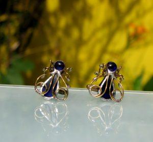 Dugmad za manžetne – pčela plava