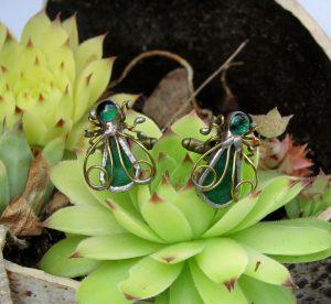 Dugmad za manžetne – pčela zelena