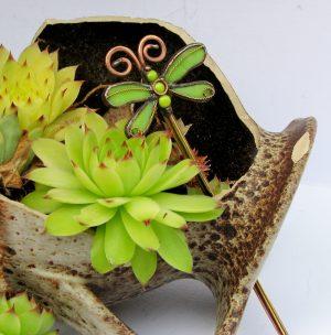 vilin konjic-igla za punđu kivi zelena