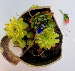 Tiski cvet-ukras za zid,plava