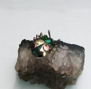 Bubamara broš zelena 2