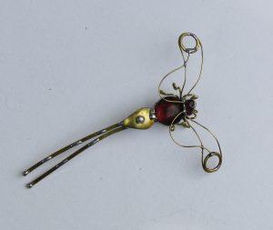 Tiski cvet-manji broš ljubičasta